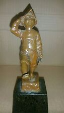 julius schmidth felling marching dutch soldier boy with sword rare original