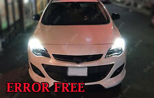 2 x DRL SUPER BRIGHT WHITE Vauxhall ASTRA J CORSA Upgrade ERROR FREE Bulbs