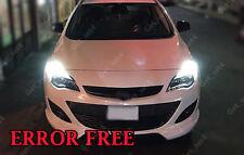 2 x DRL SUPER BRIGHT WHITE Vauxhall ASTRA J CORSA Upgrade ERROR FREE Bulbs
