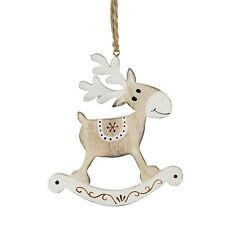 white wooden hanging reindeer Christmas tree decoration