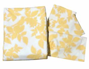 Pottery Barn Yellow SONGBIRD King Duvet Cover  Euro Sham & Standard Shams Set