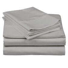 Premium Sheet Set King Size Light Grey 100% Cotton 600 TC 18 Inches Deep Pocket