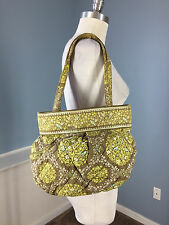 Vera Bradley Green Bird Print Sittin in a Tree Retired Hobo Purse