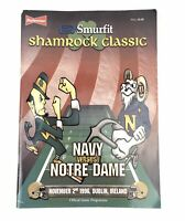 1996 Shamrock Classic Navy vs. Notre Dame Football Game Program Dublin Ireland