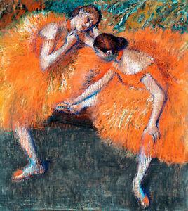 Two Dancers by Edgar Degas 60cm x 53.7cm High Quality Canvas Print