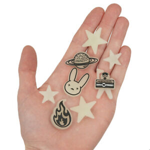 In Stock: Bad Bunny Compatible Croc Charms - Complete Set 8 - Glow in the Dark