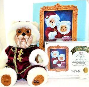 Robert Raikes Bear Santa Claus Limited Edition 1336/7500 Artist Signed COA Box