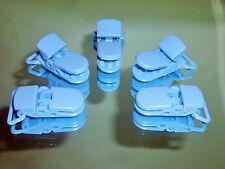 5 x en plastique Bleu Kam bébé mannequin forte sucette clips ouverture fits ruban 20mm