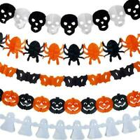Halloween Pumpkin Spider Garland Hanging Ghost Paper Festive Party Decor Ho R6A4