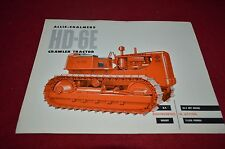 Allis Chalmers HD-6E Crawler Tractor Dealer's Brochure YABE11 Ver85