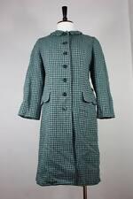Vintage Harris tweed wool coat S to M jacket 50's 60's a-line made in uk vtg