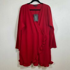 Pretty little liars ruffle cross front NWT red dress