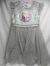 """DISNEY """"Frozen"""" Silver Princess Party Dress Sz (5-6)"""