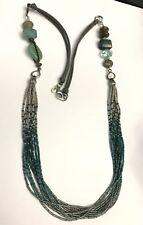 Silpada Sterling Silver Labradorite Chalcedony Fluorite Necklace N2069 Blue Long