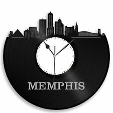 Memphis Vinyl Wall Art Clock City Skyline Travel Souvenir Home Living Room Decor
