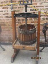 Oasia Wine Press Circa 1920s Fruit Apple Cider Craft Iron