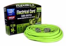 50 ft Extension Cord Flexzilla Pro Electric Power Cable Indoor Outdoor 12 gauge