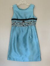 Bonnie Jean Dress Size 8 Sleeveless Blue Laced