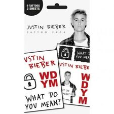 Justin Bieber Temporary Tattoos Pack with Free UK P&P