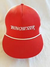 Vintage Winchester Snapback Trucker mesh Hat Cap appears unused Nos Usa made