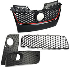 Front Bumper Center Lower Grille Fog Light Grills Sets For Vw Golf Jetta MK5 GTI