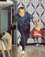 President Richard Nixon bowling at the White House alley 1970 New 8x10 Photo