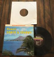 Santo Johnny Hawaii 1st Press 1961 Vinyl LP Canadian American SCALP 1004 Record