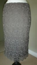 M&S Autograph Lace Mink Stylish Pencil Skirt Size UK 8 RRP £69