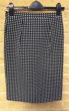 Women's Arte Black and White Polka Dot Pencil Skirt Size 8 Jon Adam