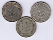 Palestine:KM-7,100 Mils Lot of 3 ,1931,1933,1934 * Silver * Key Dates * VF *