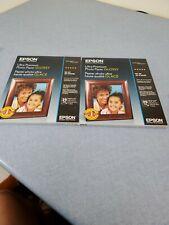 "2 Epson Ultra Premium Photo Paper Glossy (8.5""x11"")-50 Sheets"