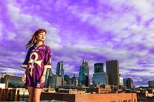 """Purple Reign"" Minnesota Vikings NFL Prince Jersey Women's Medium"