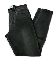 Frame Denim Le High Skinny Jeans Burton Wash Faded Black Gray Size 28