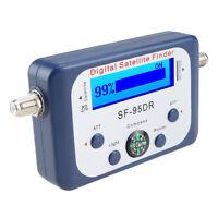 DIGITAL SATELLITE SIGNAL METER FINDER DISHNETWORK DIRECTV DISH WITH COMPASS FTA