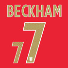 BECKHAM #7 - ENGLAND 2006/08 AWAY NAMESET PRINT HIGH QUALITY PVC