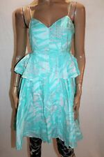 COUNTRY ROAD Brand Blue Printed Summer Day Dress Size 8 LIKE NEW #AN02