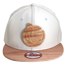 NEW Authentic YUMS New Era Metal Face White Leather & Wood Strapback 15MF