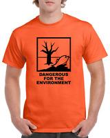 DANGEROUS ENVIRO Chemical Symbol Funny Heavy Cotton t shirt ALL SIZES SMALL - XL