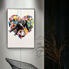 Drawing Heart Graffiti Artwork Canvas Wall Art Prints Pictures Home Decor