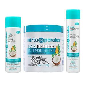 Mirta de Perales Natural Oils Treatment Set. Shampoo + Conditioner + Leave-in