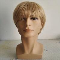 1| Cheveux Synthétiques-Mode-homme-Perruque-homme-carré-3 couleurs