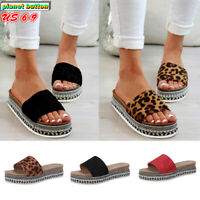 Women's Fashion Wedge Platform Slipper Slides Flip Flops Slip On Sandals Shoes