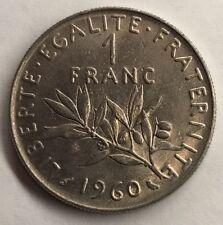 1 Franc Semeuse Nickel 1960 Monnaie Française Achat Unitaire