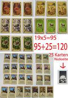 Siedler von Catan 120 Karten Komplett 95 Rohstoffkarten 25 Entwicklungskarten//