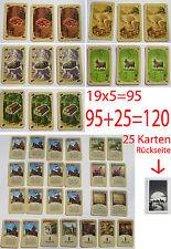 Die Siedler von Catan 120 Karten Komplett 95 Rohstoffkarten 25Entwicklungskarten