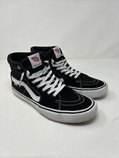 Vans SK8-Hi Pro Black white Shoes men's us Size 10 womens size 11.5