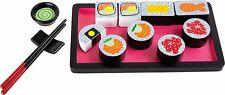 Wooden Sushi Set Pretend Play Tea Set Imaginative Chopsticks Children Toy NEW