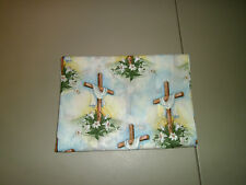 1-Easter Lillies/Beautifully Draped Cross King Size Pillowcase  New & Handmade!