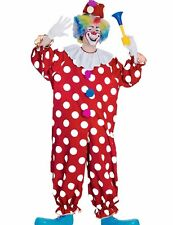 Dotted Classic Clown Costume Adult Polka Dots Spotted Mens Womens - Fast Ship -
