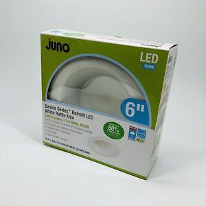 "2-PACK Juno 6"" inch Retrofit LED White Baffle Trim 1000 Lumens 13.5 Watts (A3)"